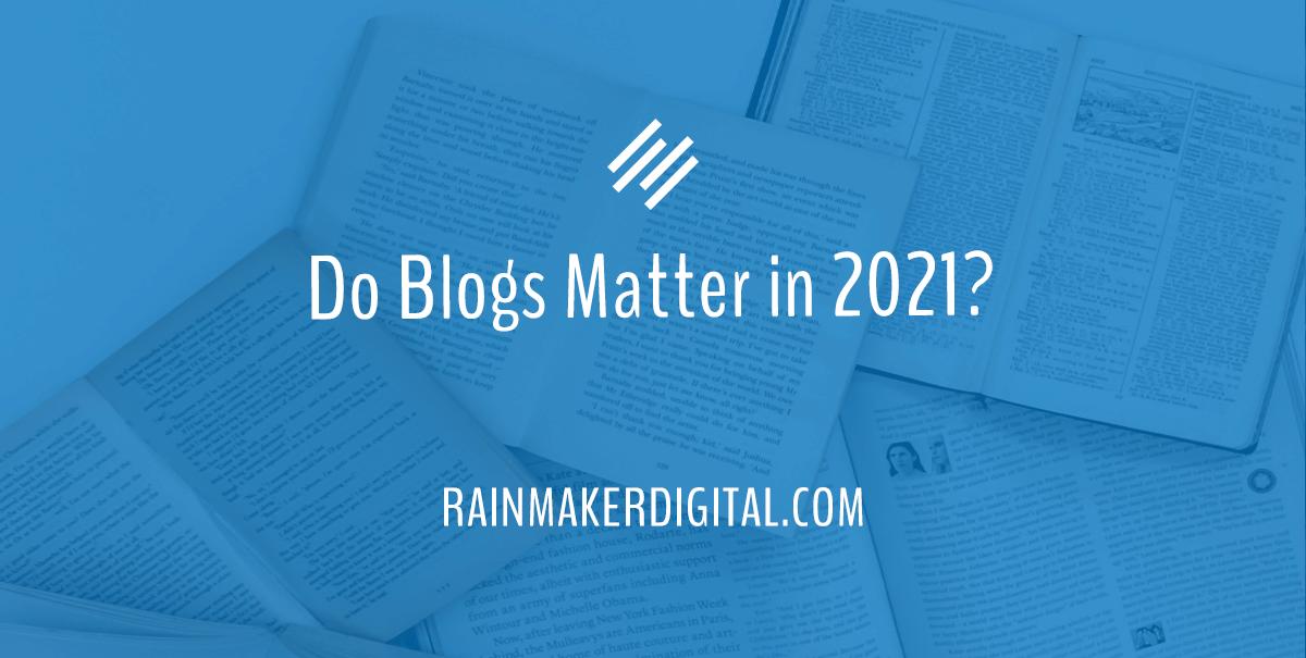 Do blogs matter?