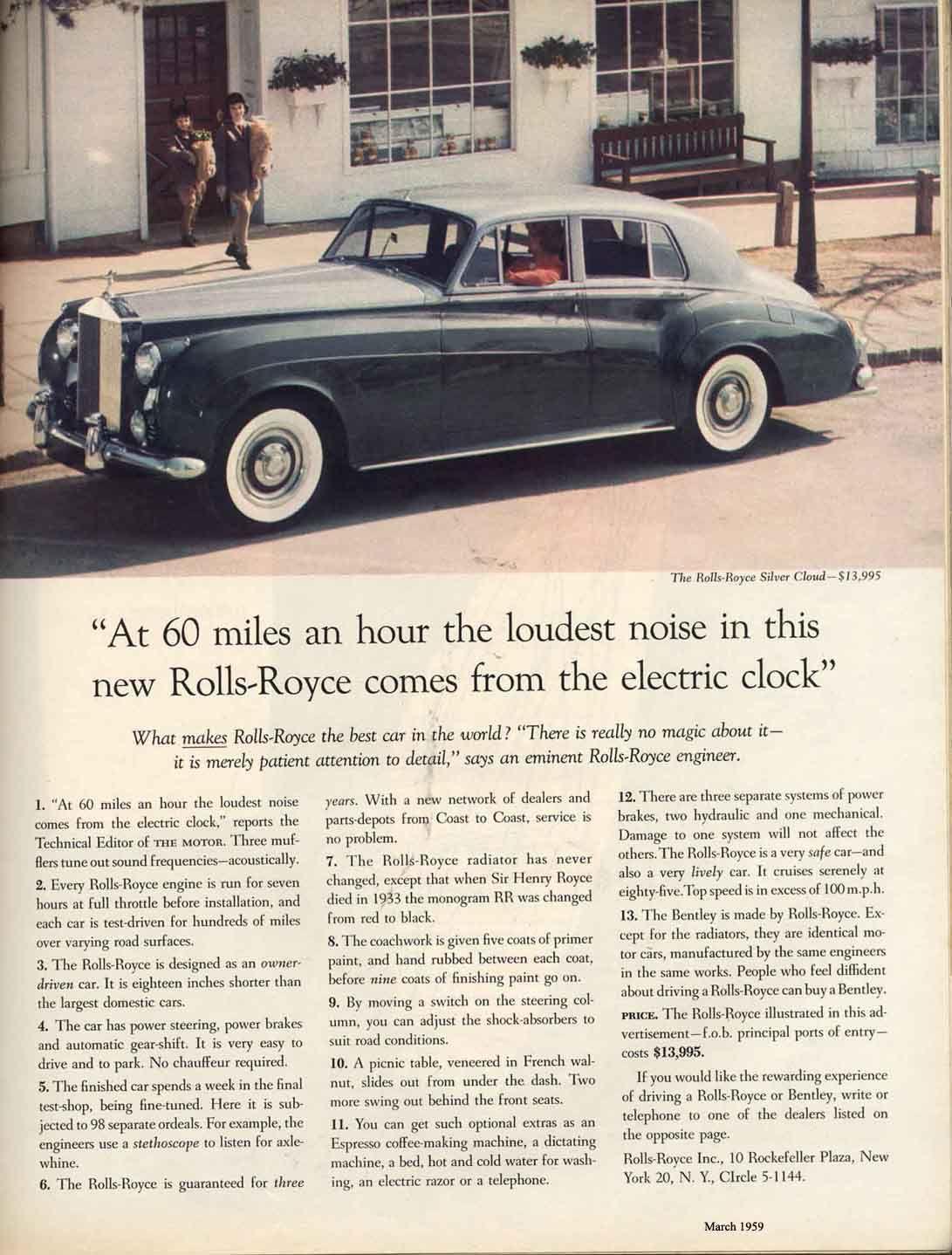 David Ogilvy's famous Rolls Royce ad